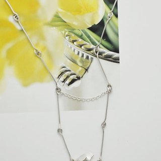The line series_A bird on the hanging seat。Silver Necklace