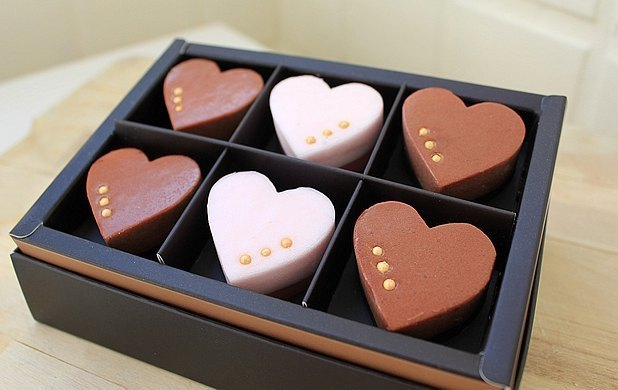 ● sweet fragrance of love chocolate soap gift