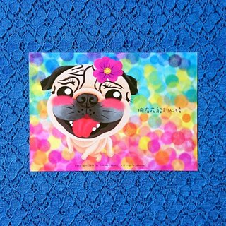 Pug Postcard-Have a good day!