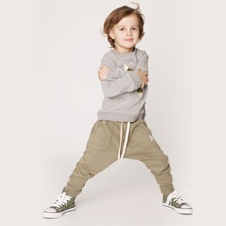 [Nordic children's wear] Swedish organic French cotton trousers