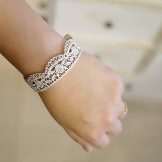 [Jin Xialin ‧] small jewelry rose bracelet Silver Lace