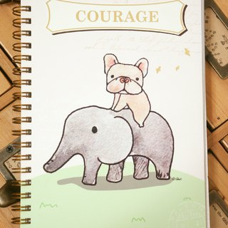 Like elephant fight - double coil notebook