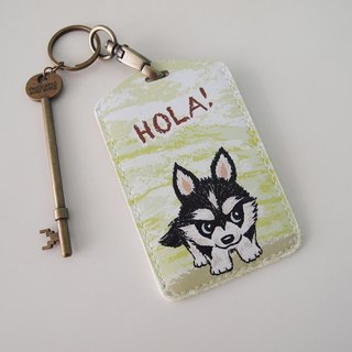 Multi-function card holder key ring - Hola!