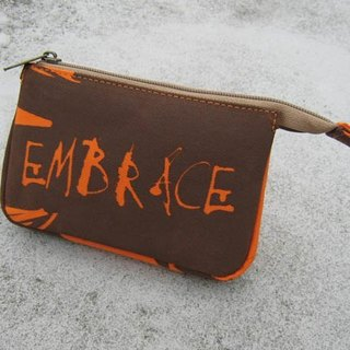 Distressed admission package / document bag / orange
