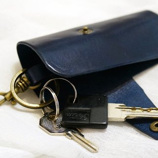 Leather key clip (lettering)