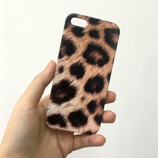 Brown Leopard Pattern 3D Full Wrap Phone Case, available for  iPhone 7, iPhone 7 Plus, iPhone 6s, iPhone 6s Plus, iPhone 5/5s, iPhone 5c, iPhone 4/4s, Samsung Galaxy S7, S7 Edge, S6 Edge Plus, S6, S6 Edge, S5 S4 S3  Samsung Galaxy Note 5, Note 4, Note 3,