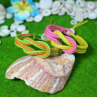 TvT / square cross braided rope bracelet