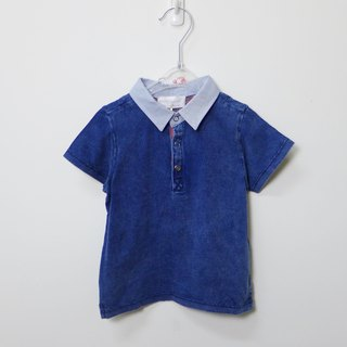 andywawa blue jeans cotton short-sleeved shirt