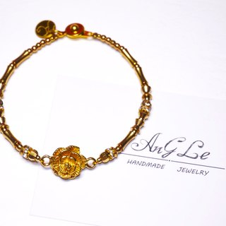 ❡ Rose brass bracelet
