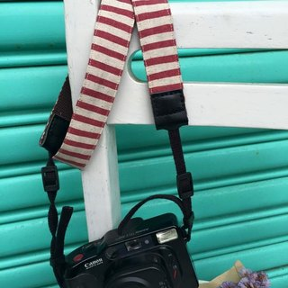 ﹝ Clare ﹞ cotton cloth hand-made wind powder pink line camera strap