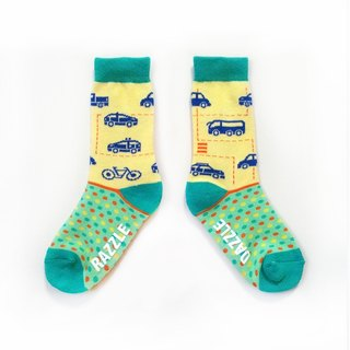 Grew up want to do - driver / bright yellow / dream Giants series socks