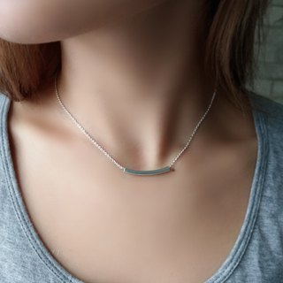 LIULIUYA 【Strong】 silver color tube square necklace