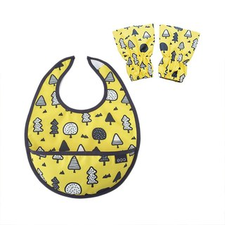Baby bib sleeves set, Baby shower gift, waterproof bib, Yellow