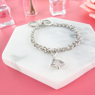 Simply Silver Bracelet with Star charm 925 Silver MN14B