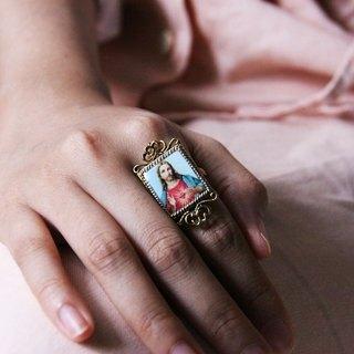 Jesus Ring / Antique Style Jewelry / Adjustable Ring / Girl Woman Accessories