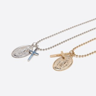 GOOTS / Maria-Cross Necklace Cross Necklace Our Lady