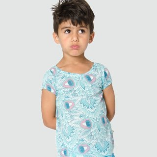 Nordic Organic Cotton Children's Soft T-shirt Bird of Paradise
