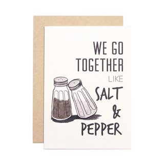 TOGETHER系列 幸福小卡 - Salt & Pepper