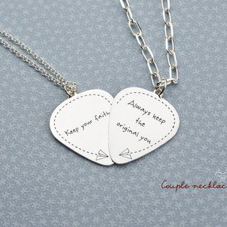 【Customize】Guitar Pick Series (925  silver necklace, engravable, custom-made) -