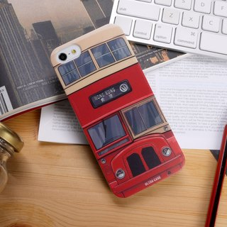 Hong Kong Style Red Bus Print Soft / Hard Case for iPhone X,  iPhone 8,  iPhone 8 Plus, iPhone 7 case, iPhone 7 Plus case, iPhone 6/6S, iPhone 6/6S Plus, Samsung Galaxy Note 7 case, Note 5 case, S7 Edge case, S7 case