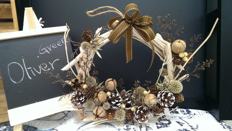 Dried wreath Series [White Christmas]