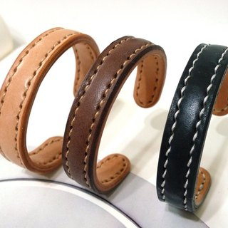 Hand-made leather - brass core increase (s) - plain simple paragraph _ Customizable lettering