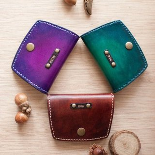 Small leather goods, handmade leather purse
