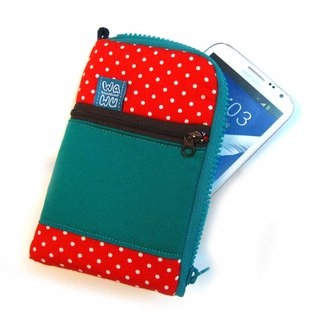 WaWu zipper phone bag plus models (red dots)
