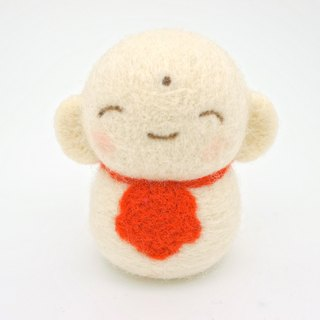 Wool felt doll - Japanese small Jizo