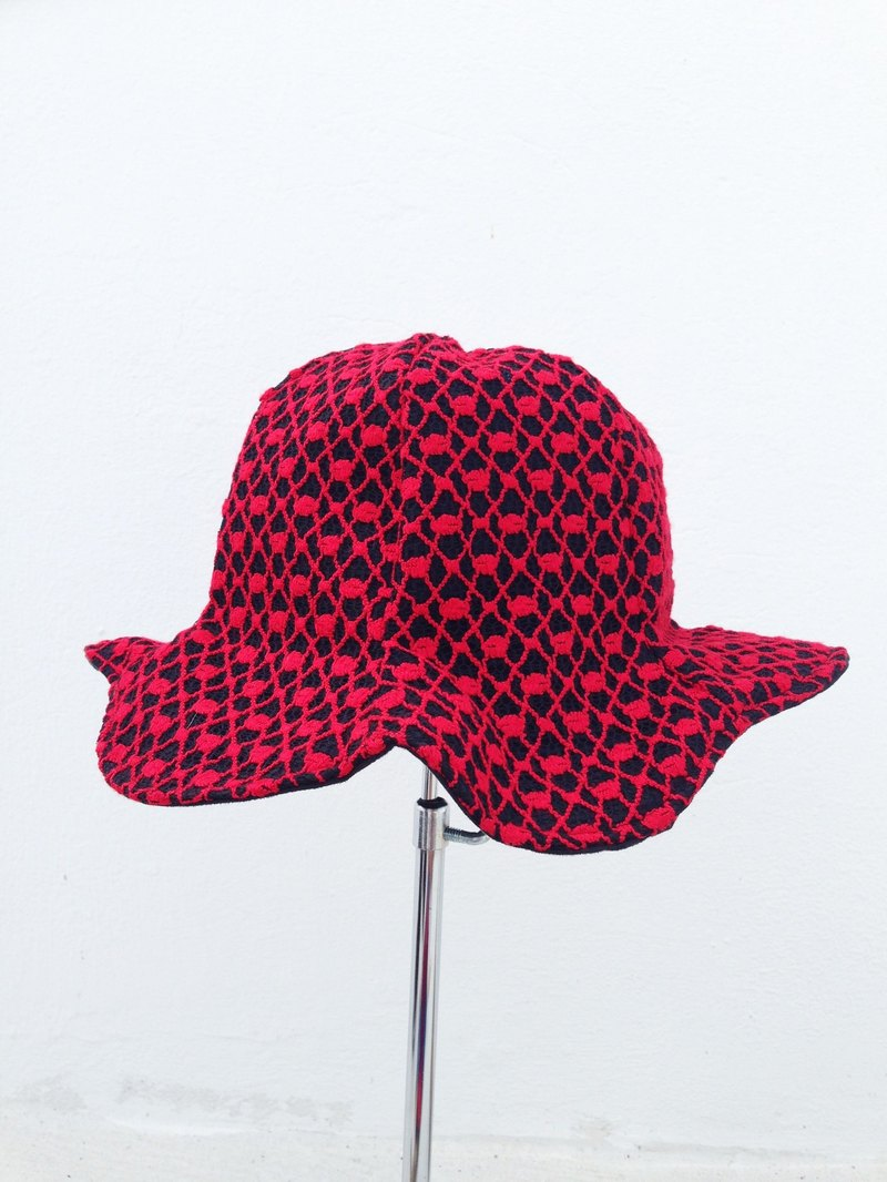[Qucky] Red Shoes / umbrella flowers cap