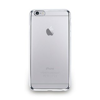 iPhone 6s Plus - metal light through a sense of protective soft cover - bright silver