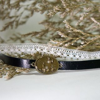 Dandelion Fever - Vintage Lace Leather Choker