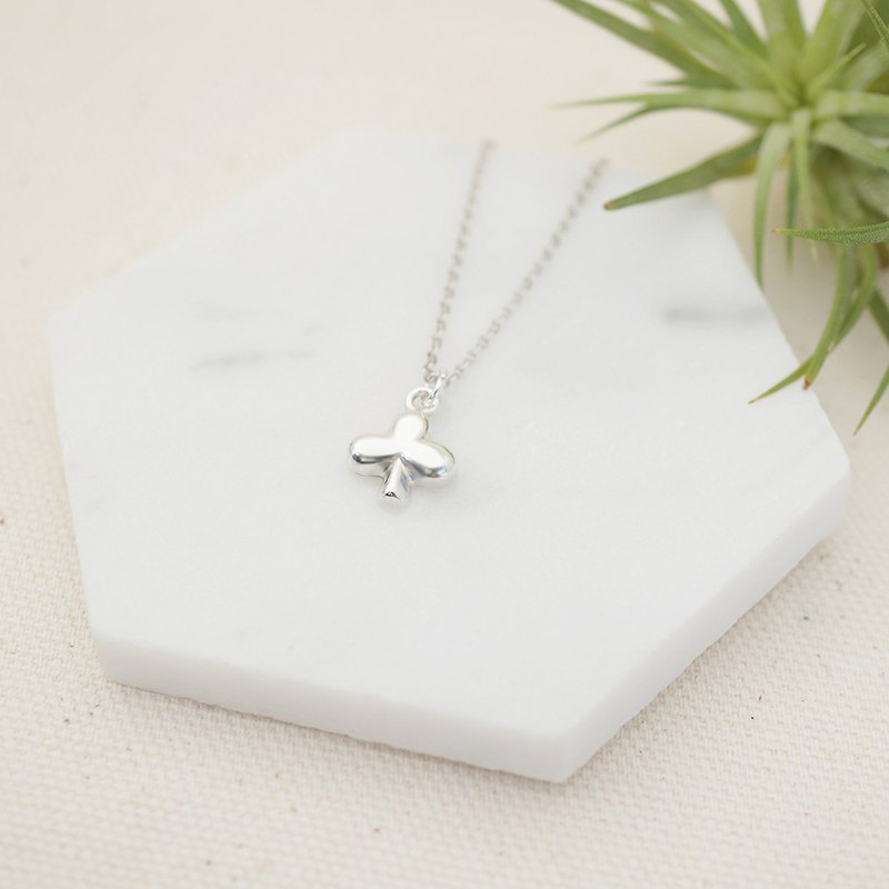 The Solitaire Mystery Sterling Silver Necklace - Club