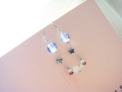 Grapefruit Lin handmade glaze - glass earrings - micro 醺 - luminous (can be free of charge to change the clip)
