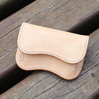 Natural Vegetable Tanned Custom Leather Coin Purse / Original / Free Color Selection / Handmade