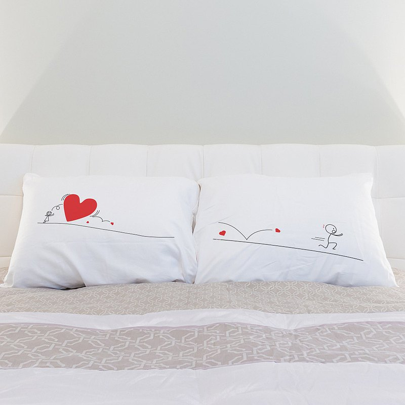 """Rolling Stone"" Boy Meets Girl couple pillowcases by Human Touch"