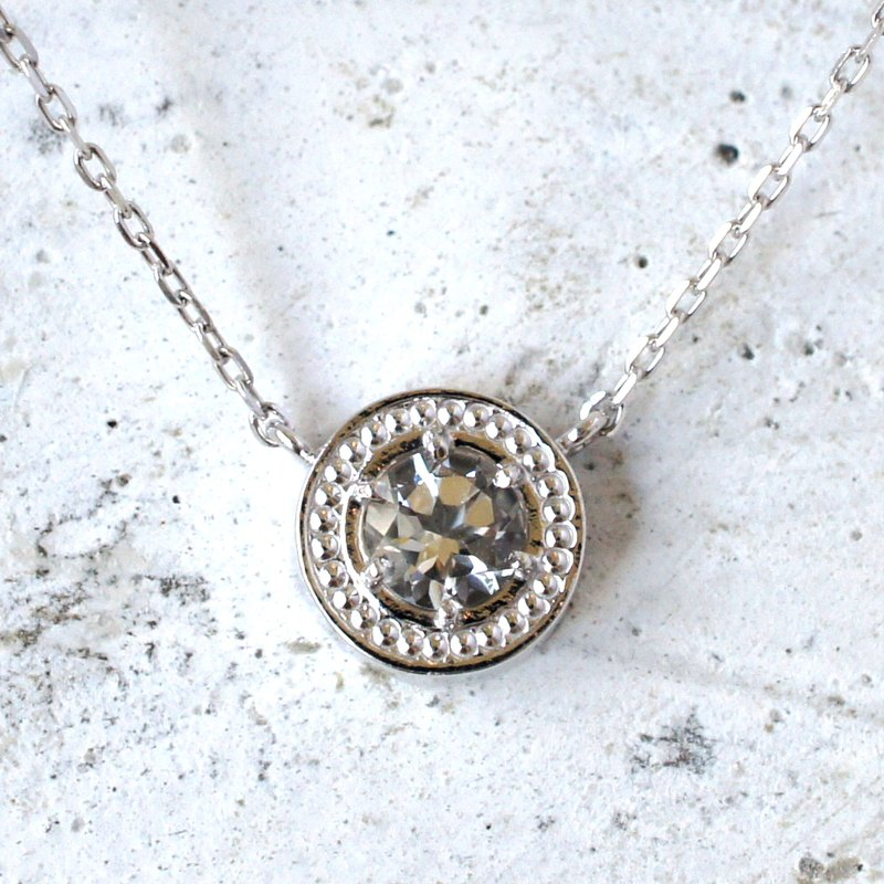 Mill · circle necklace (crystal)