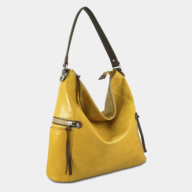 Influxx GND Melanie Leather Shoulder Bag / Work Bag / Tote  – Spectra Yellow