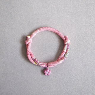 Japanese kimono dog collar & cat collar【Adjustable】Pink_S size