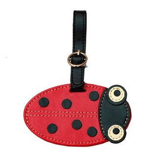 Organized Travel- cute animal shaped luggage tag / ID tag / key ring (ladybug)