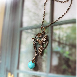 Owl phase box necklace