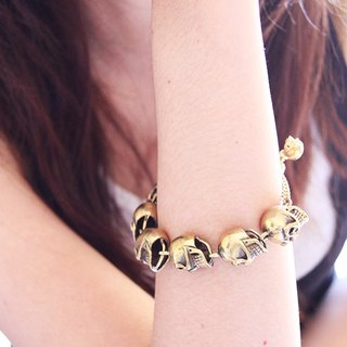 Big Human Skulls Bracelet / Punk Rock Jewelry