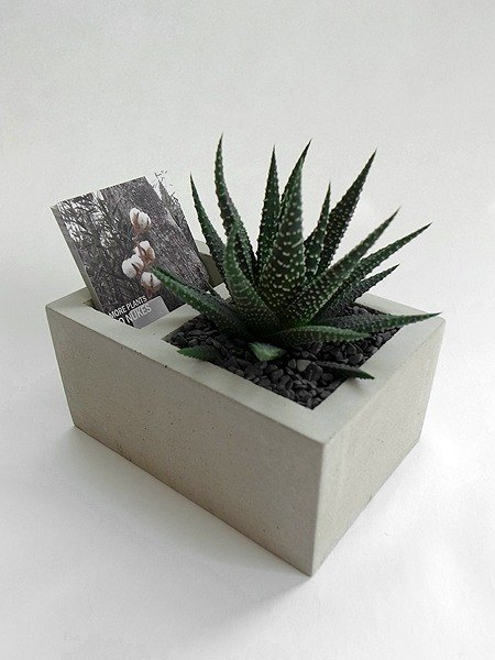 Double grid cement flower business card table (excluding plants, stones, soil)