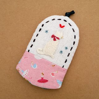 White embroidery Wallets