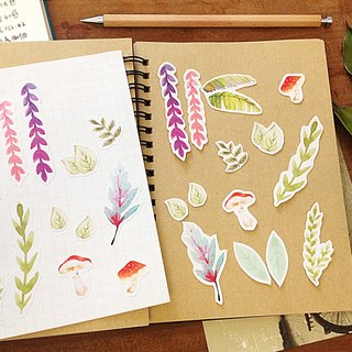Southern Botanical Garden / hand-painted style illustration PDA stickers _ a group