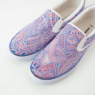Hand Drawing Shoes/Blue&Red