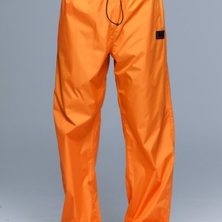 Paris Rainbow ~ lightweight wrap-around shoe rain pants / bright orange