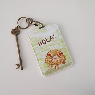 Multifunction card sleeve key ring -Hola! Red VIP