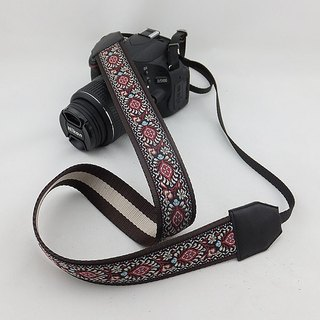 Camera strap can print personalized custom leather stitching national wind embroidery pattern 044