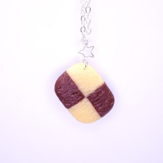 *Playful Design*  Checker Cookie Necklace